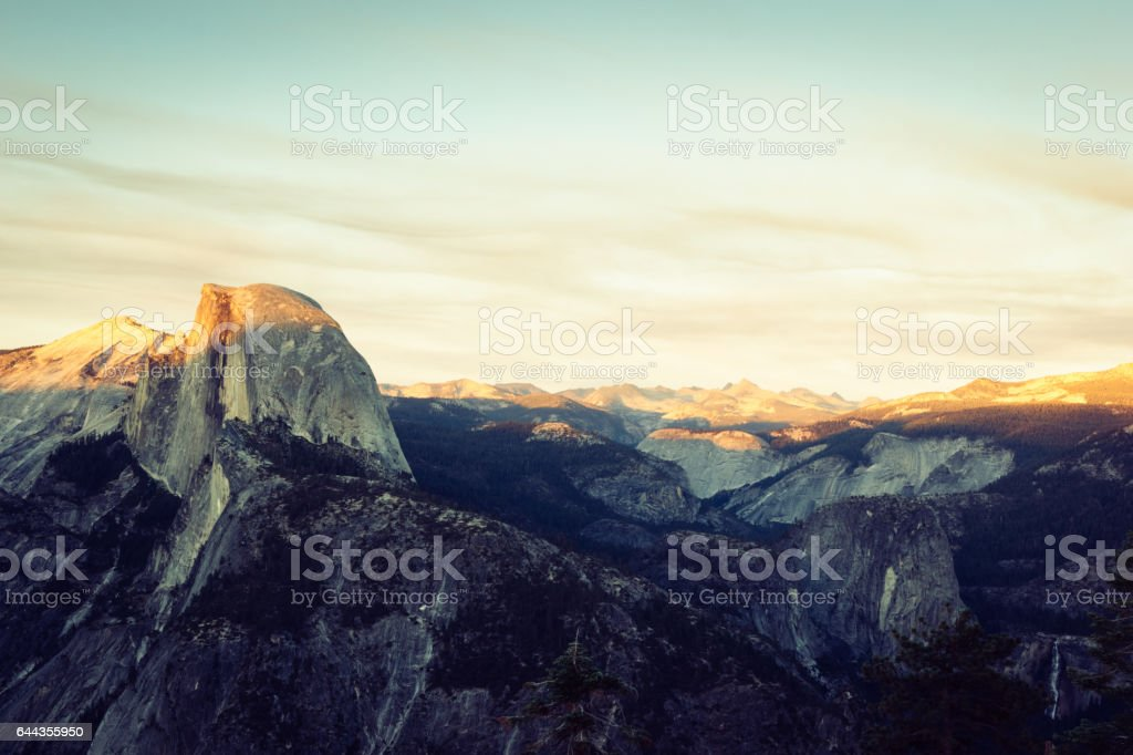 Yosemite, Half Dome from Glacier Point stock photo