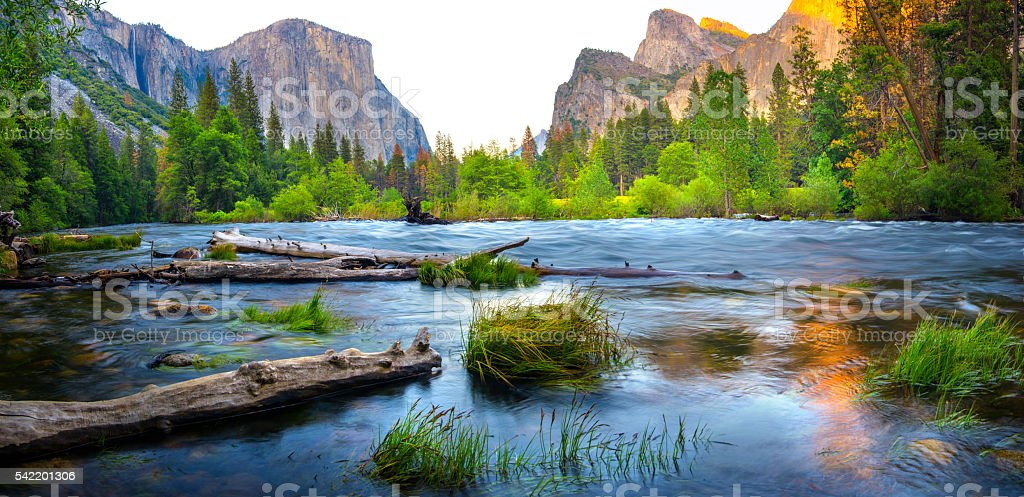 Yosemite in spring stock photo