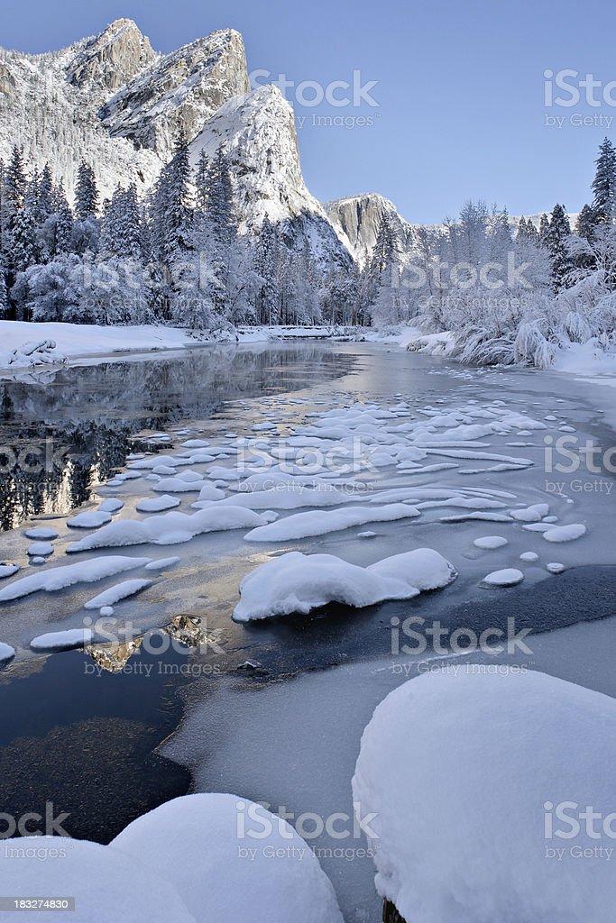 Yosemite in winter royalty-free stock photo
