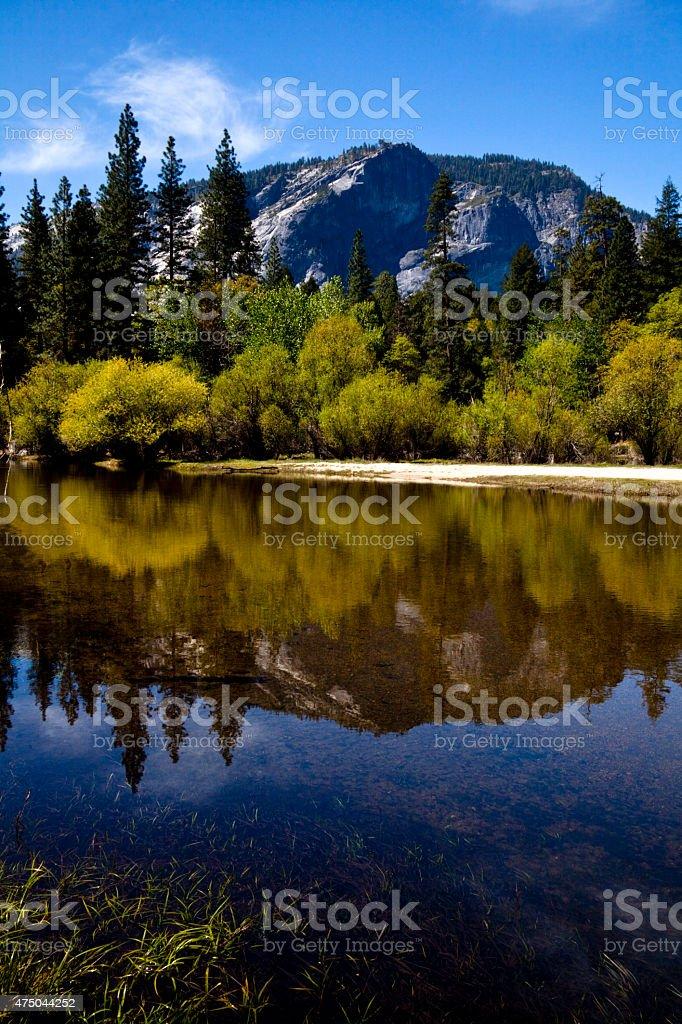 Yosemite, Mirror Lake stock photo
