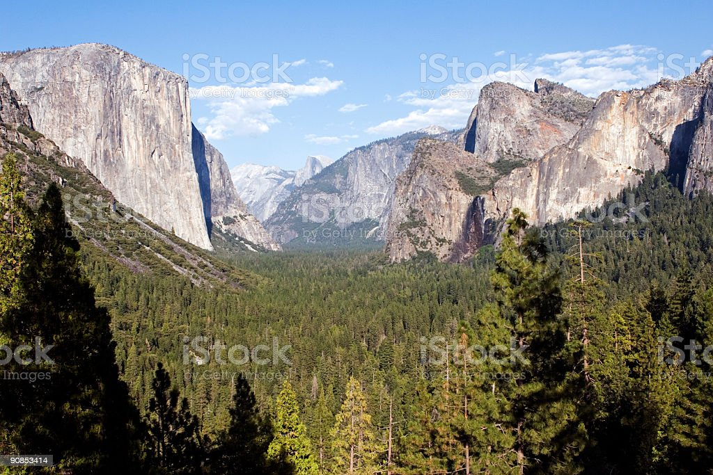 Yosemite mountain view, California stock photo