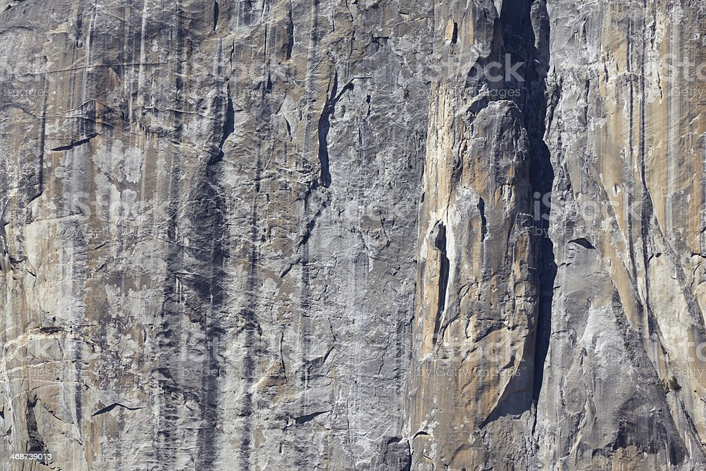 Yosemite National Park : El Capitan Cliff Face stock photo