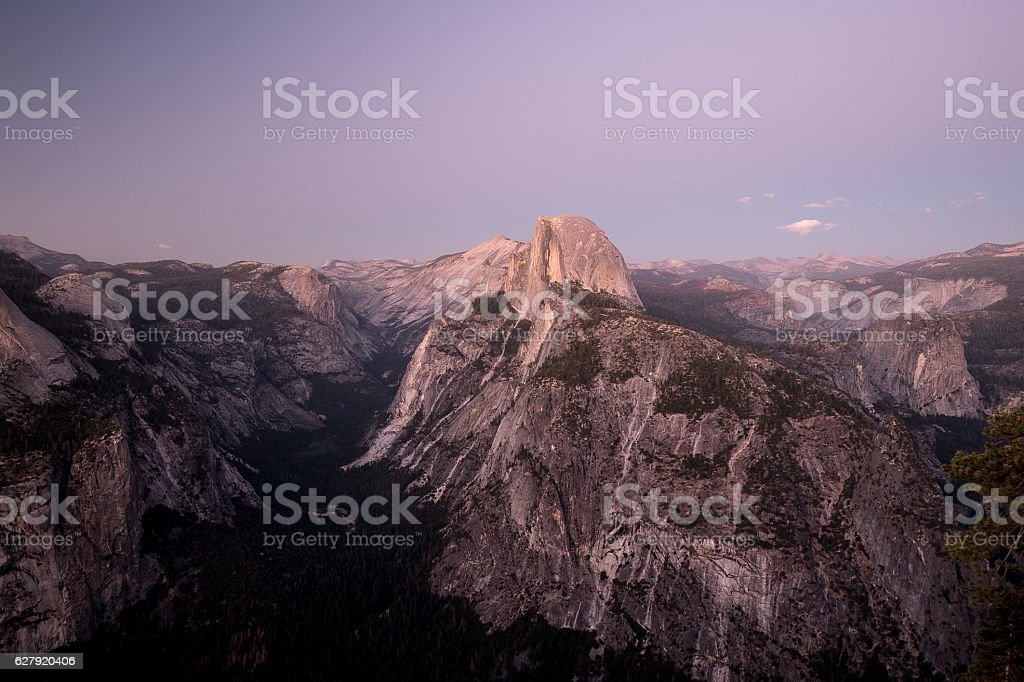 Yosemite National Park - Glacier Point stock photo