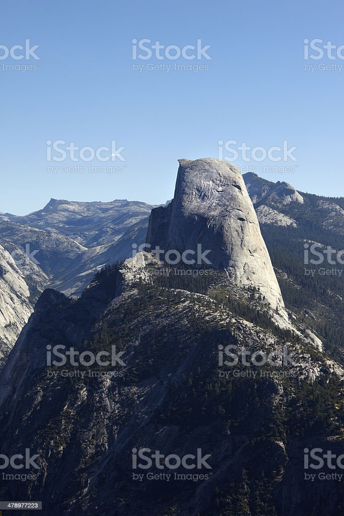 Yosemite National Park : Half Dome from Glacier Point royalty-free stock photo