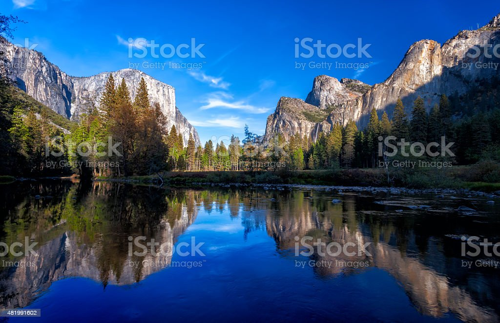 Yosemite National Park Mirror Lake stock photo