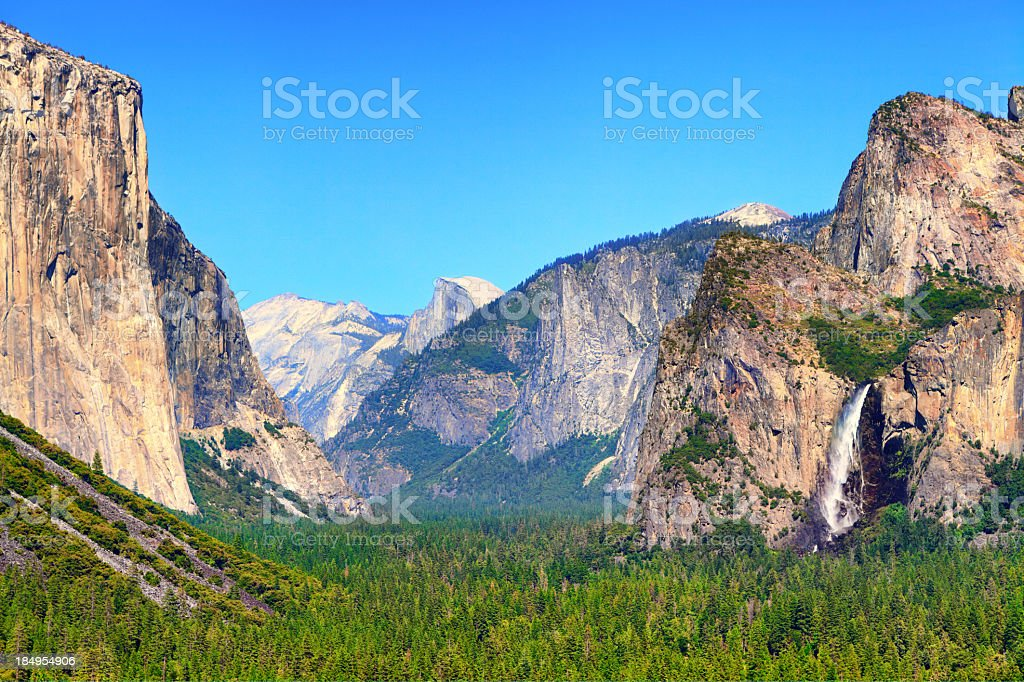 Yosemite national park on a sunny day stock photo