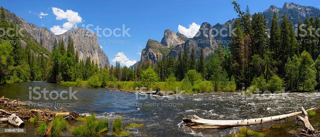 Yosemite National Park Panorama stock photo