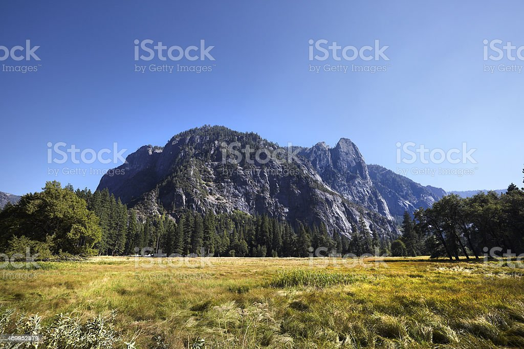 Yosemite National Park : Sentinel Point and Leidig Meadow royalty-free stock photo