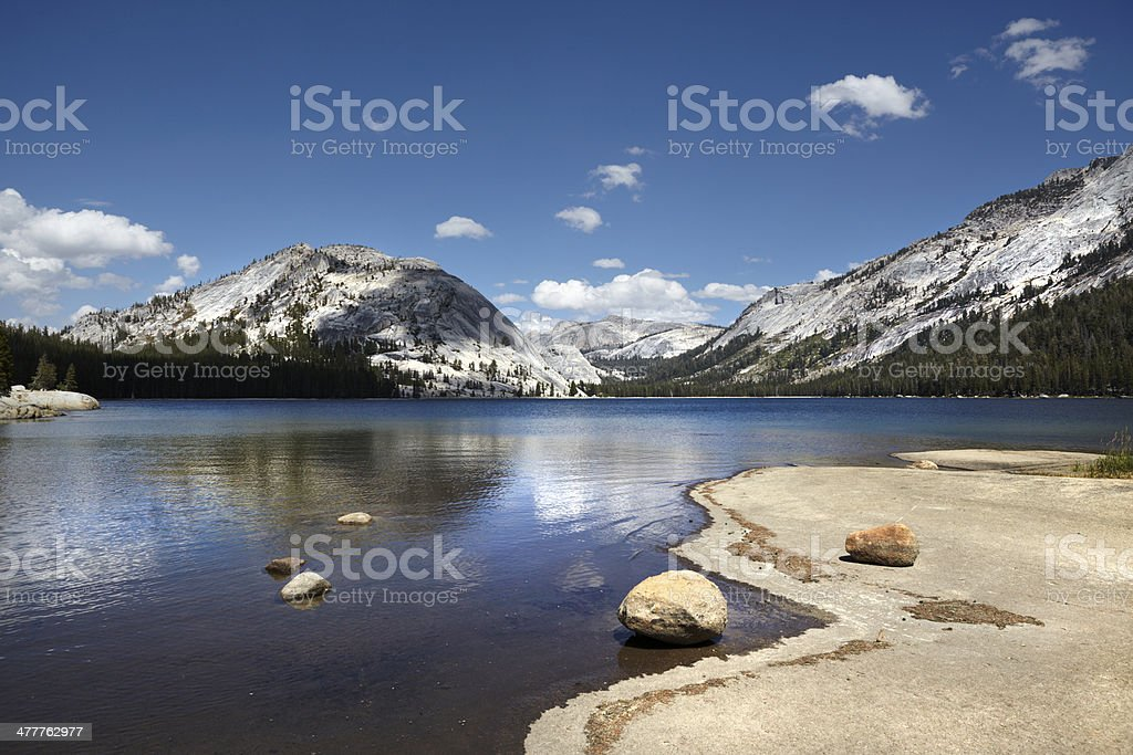 Yosemite National Park : Tenaya Lake royalty-free stock photo