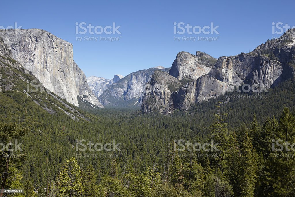 Yosemite National Park : Tunnel View royalty-free stock photo