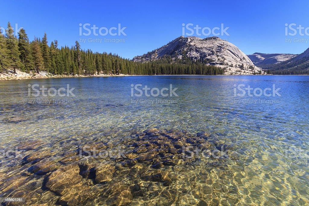 Yosemite National Park, View of Lake Tenaya (Tioga Pass), Calif stock photo