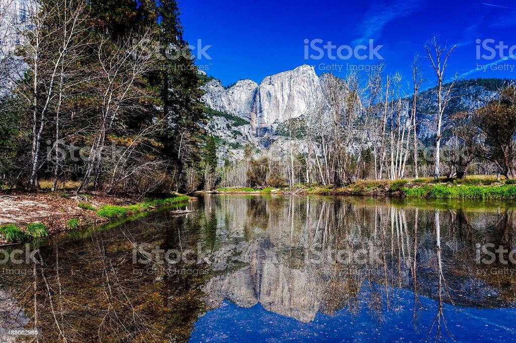 Yosemite National Park with Reflection(3XL) stock photo