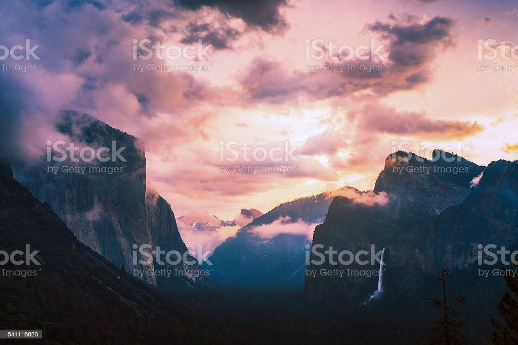 Yosemite National park,California,usa. stock photo