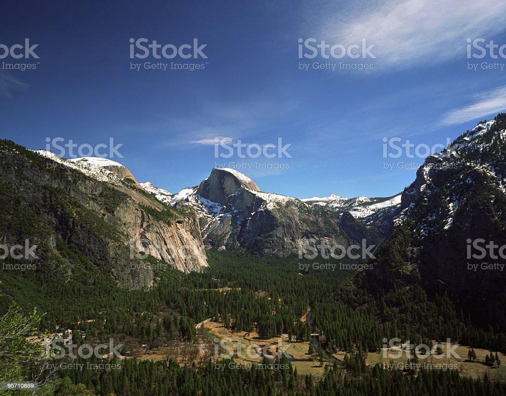 Yosemite Panorama stock photo