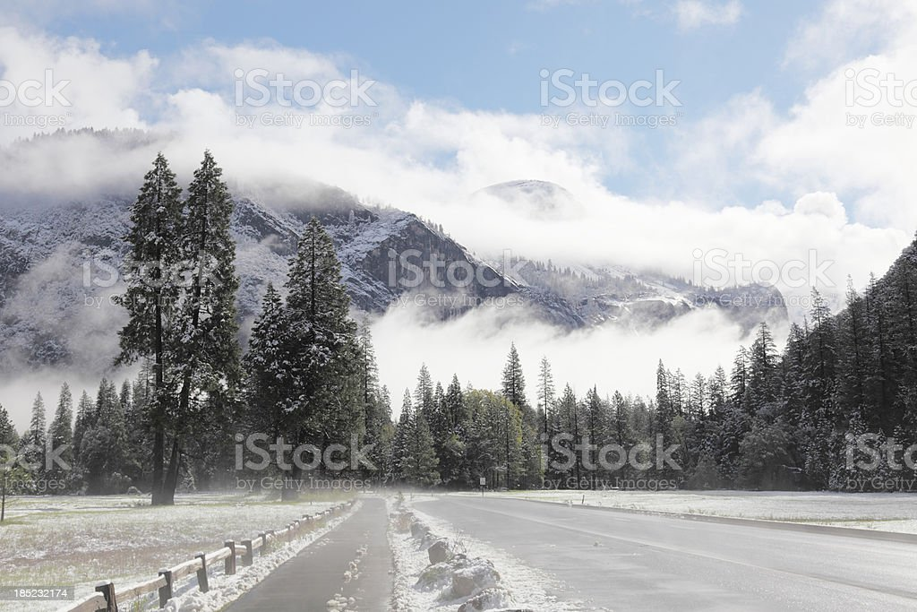 Yosemite Park valley during spring royalty-free stock photo