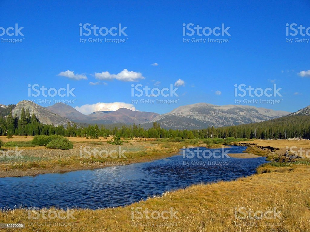 Yosemite Tuolumne Meadows stock photo
