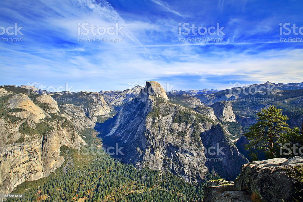 Yosemite Valley and Half Dome stock photo