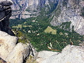 Yosemite Valley and Merced River from Glacier Point