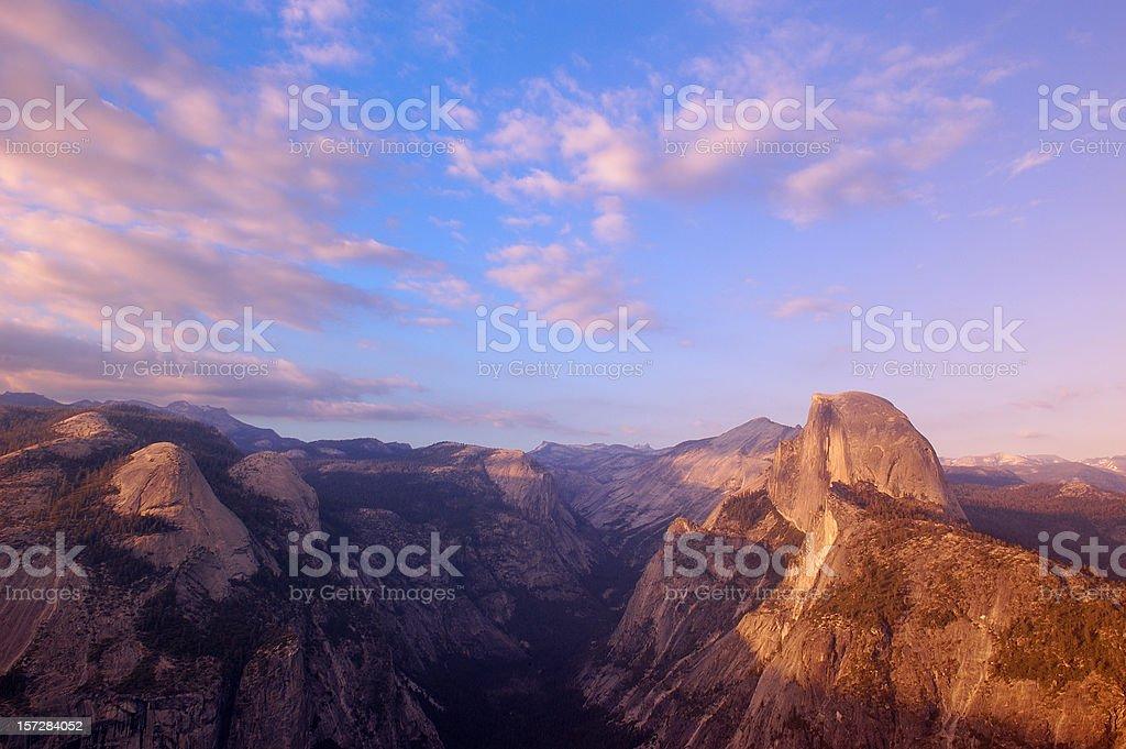 Yosemite Valley at sunset royalty-free stock photo