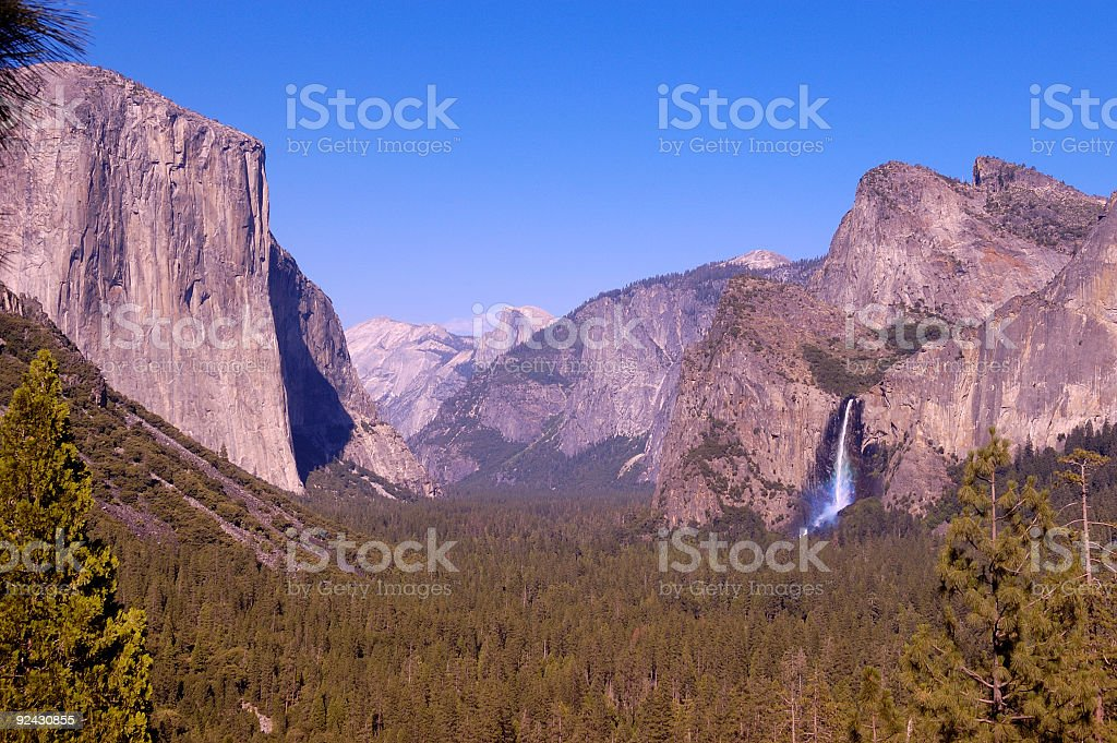 Yosemite Valley from Tunnel view royalty-free stock photo