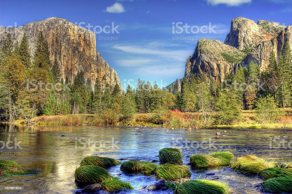 Yosemite Valley in Autumn royalty-free stock photo