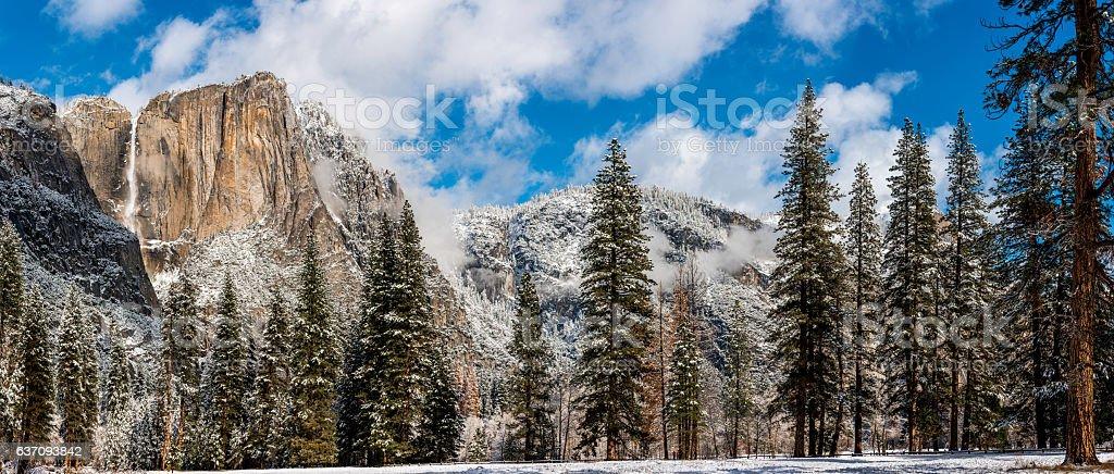 Yosemite Valley in winter stock photo