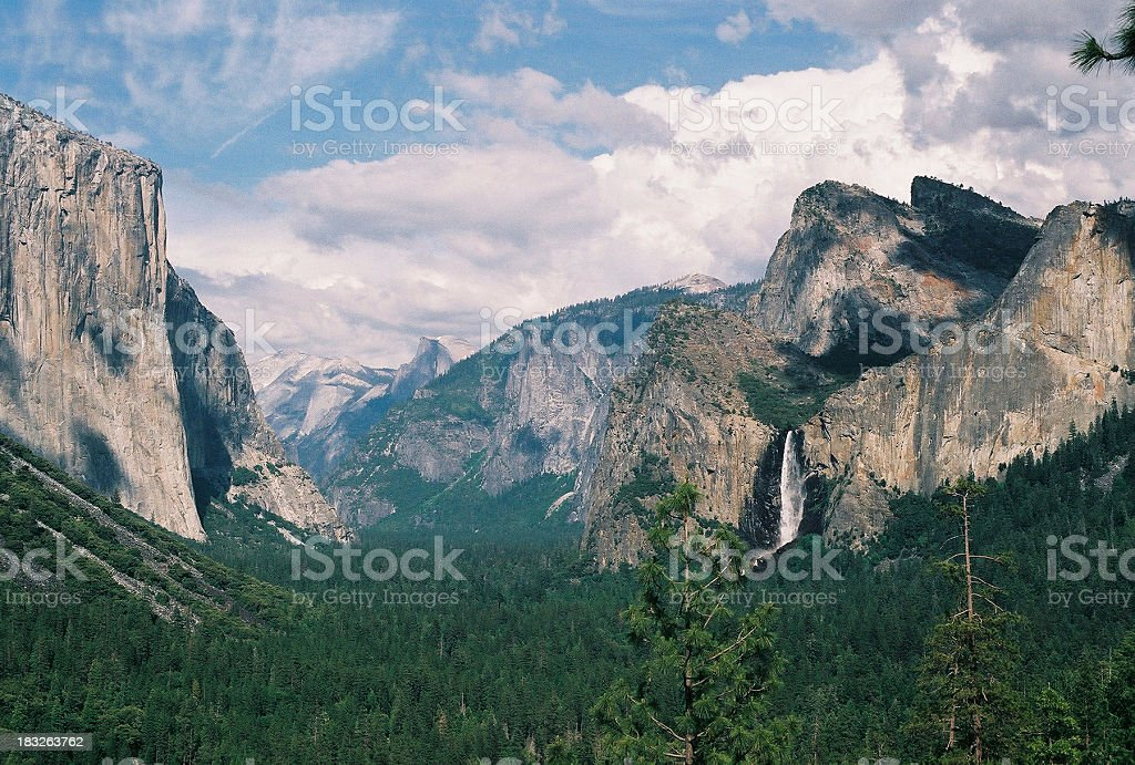 Yosemite valley view royalty-free stock photo