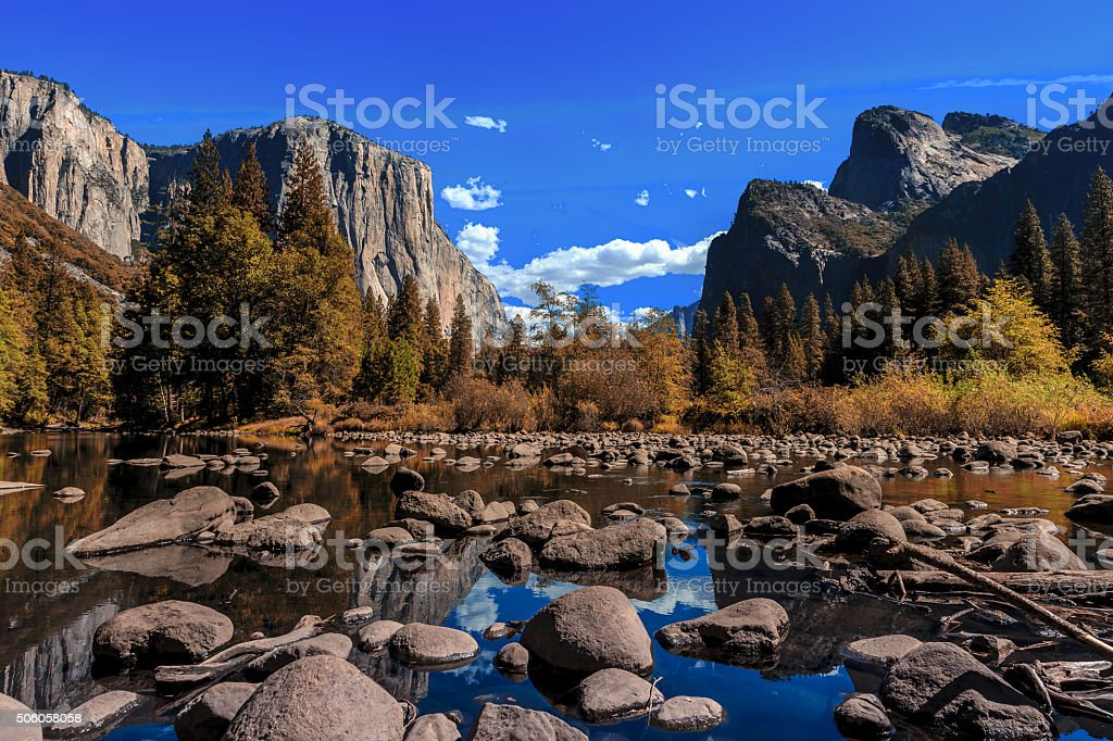 Yosemite Valley View stock photo