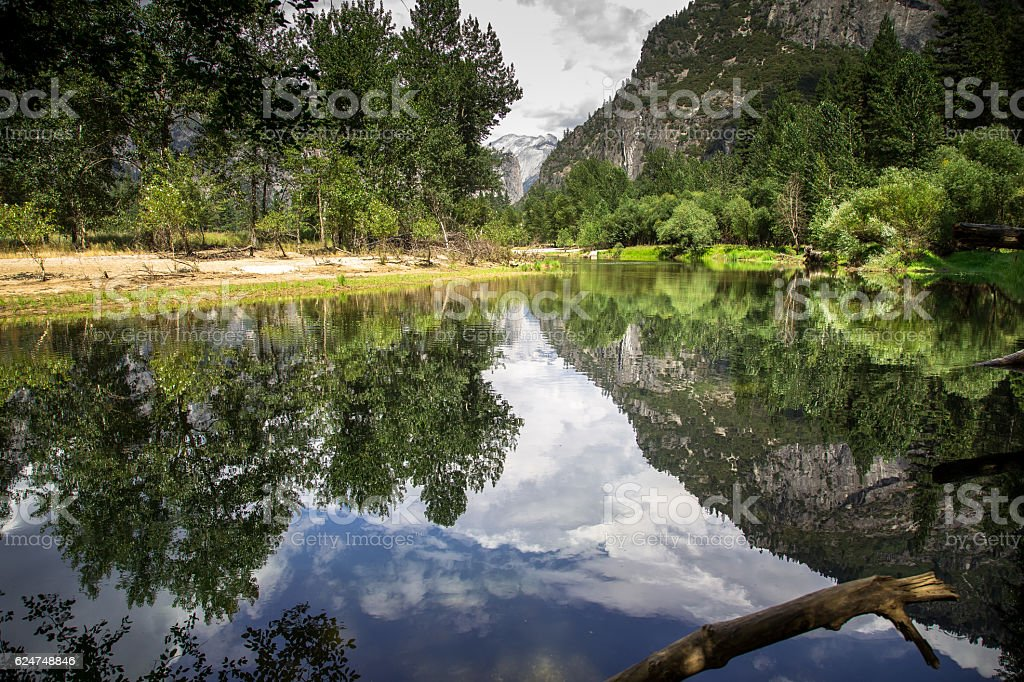 Yosemite Vally Riverbank View stock photo