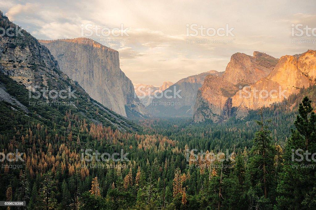 Yosemite View in California stock photo