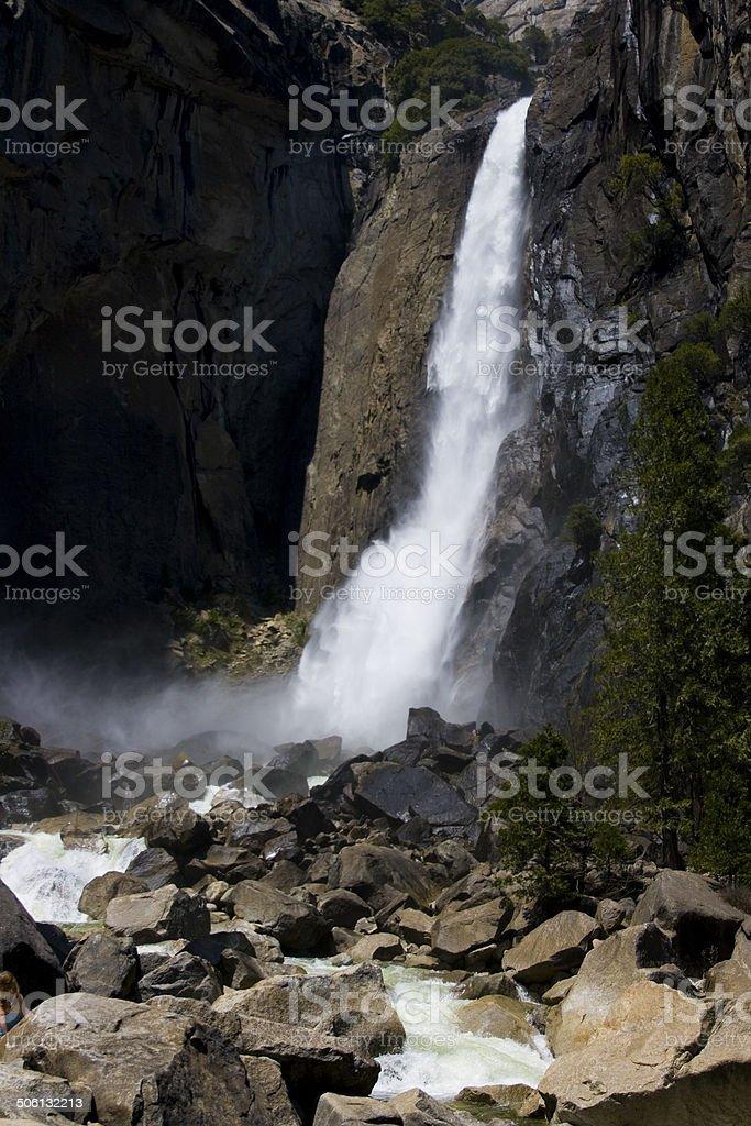 Yosemite Water Falls royalty-free stock photo