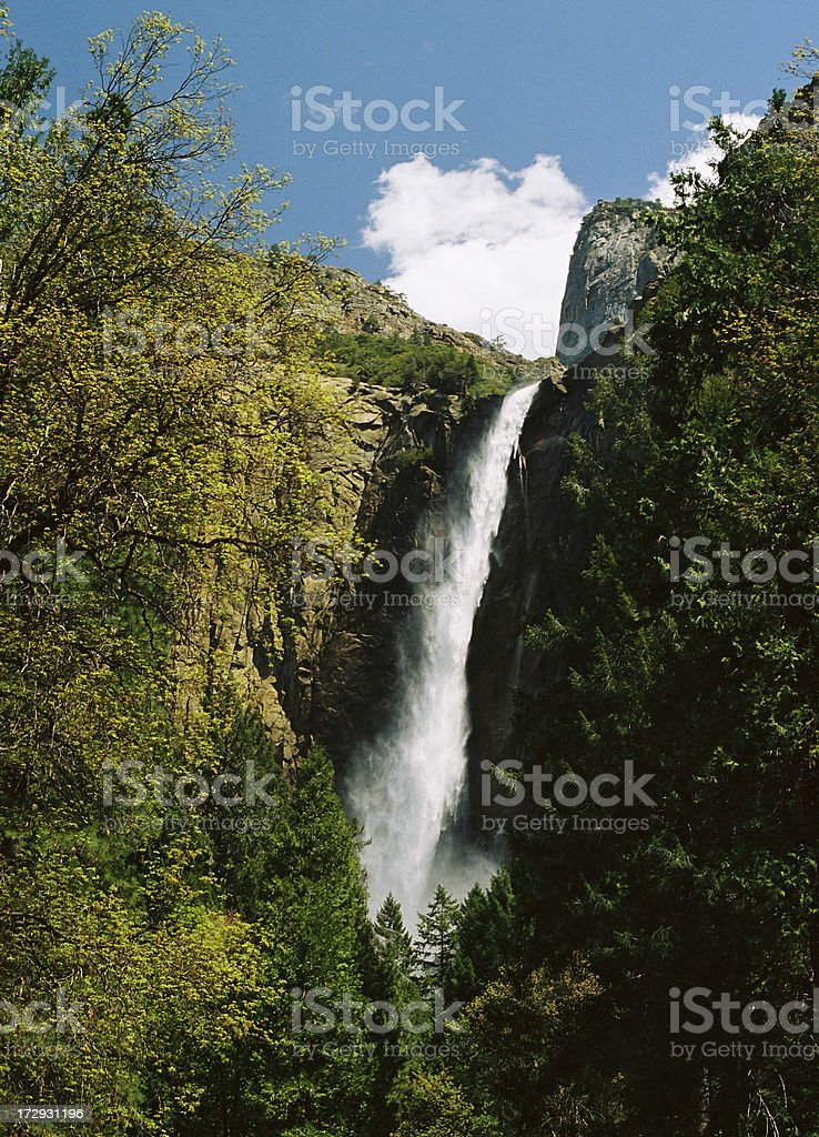 Yosemite waterfall royalty-free stock photo