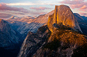 Yosemite's Half Dome - Sunset from Glacier Point