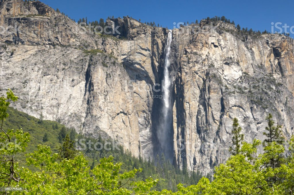 Yosemite's Horsetail Fall in the Spring royalty-free stock photo