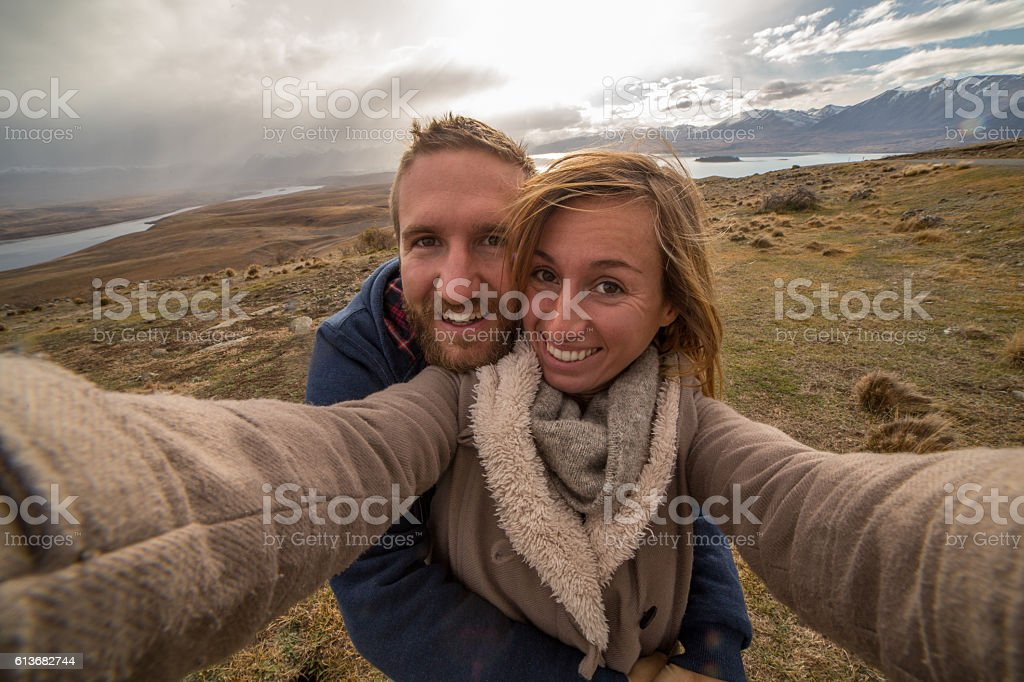 You and me in New Zealand stock photo