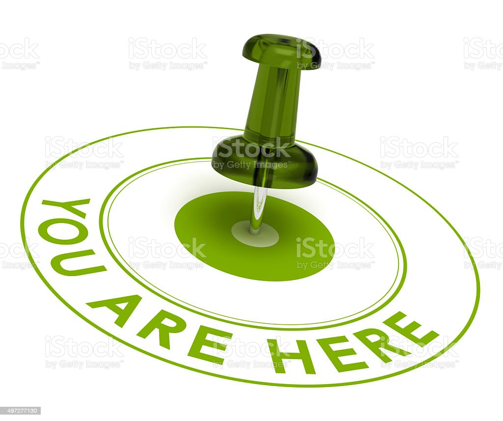 You are here - geolocation stock photo