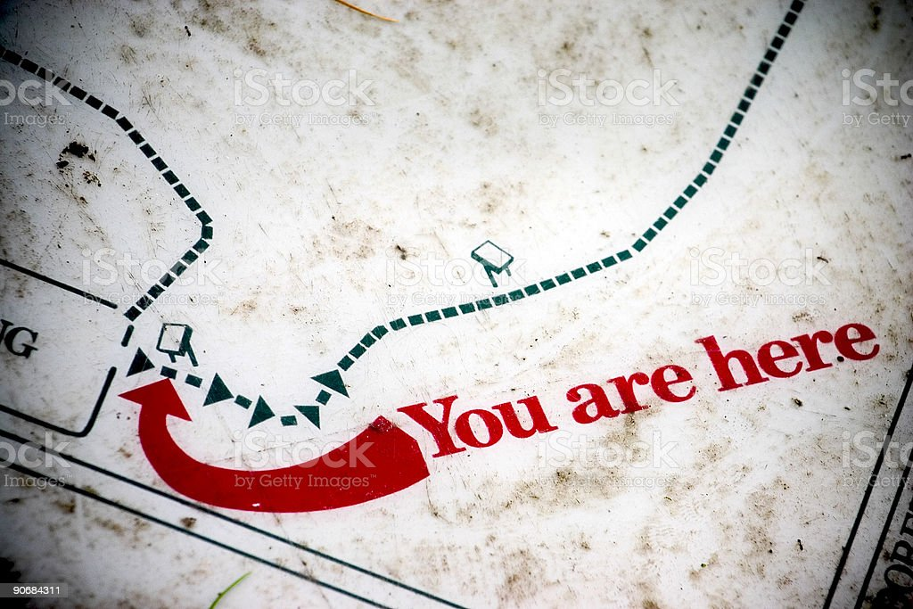 You are Here royalty-free stock photo