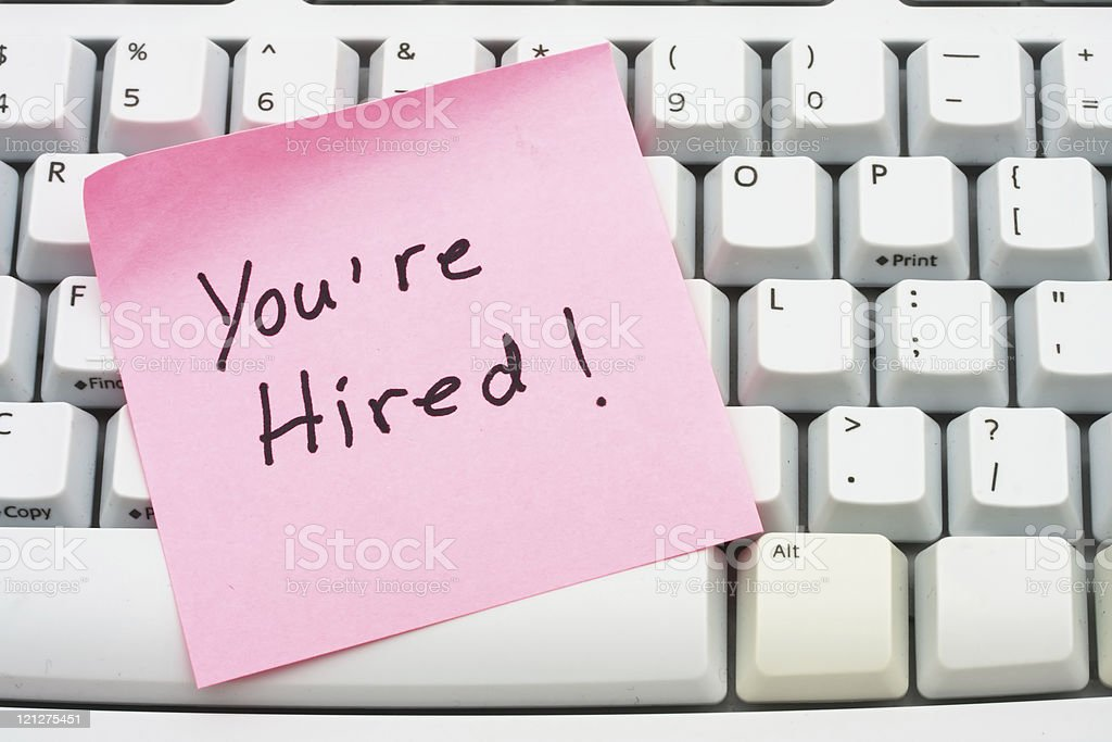 You are hired royalty-free stock photo