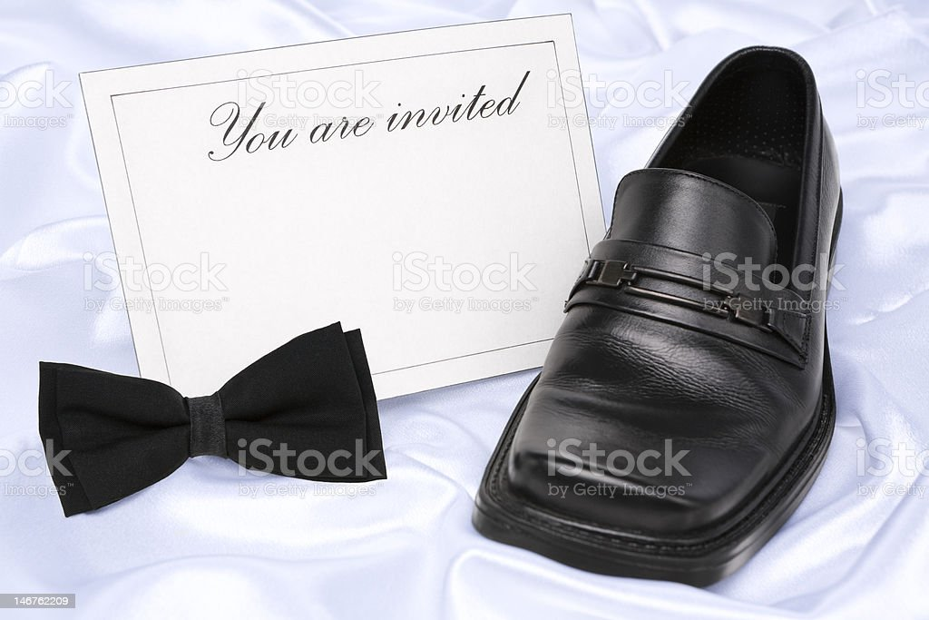 You are invited (man) royalty-free stock photo