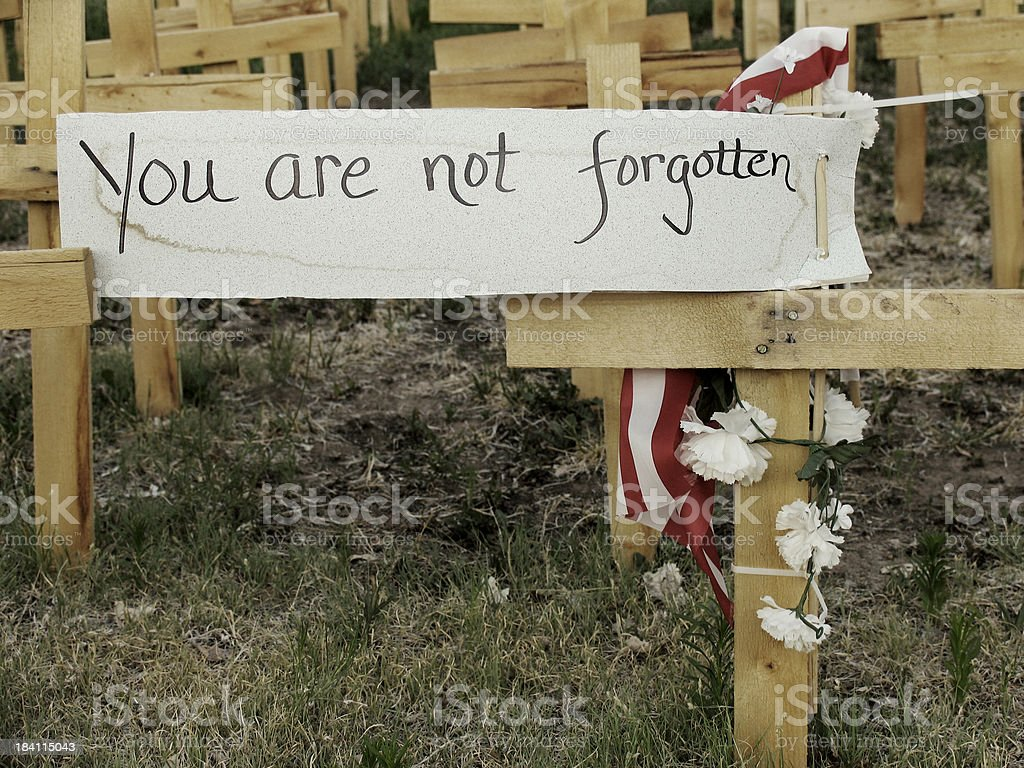 You are not forgotten stock photo
