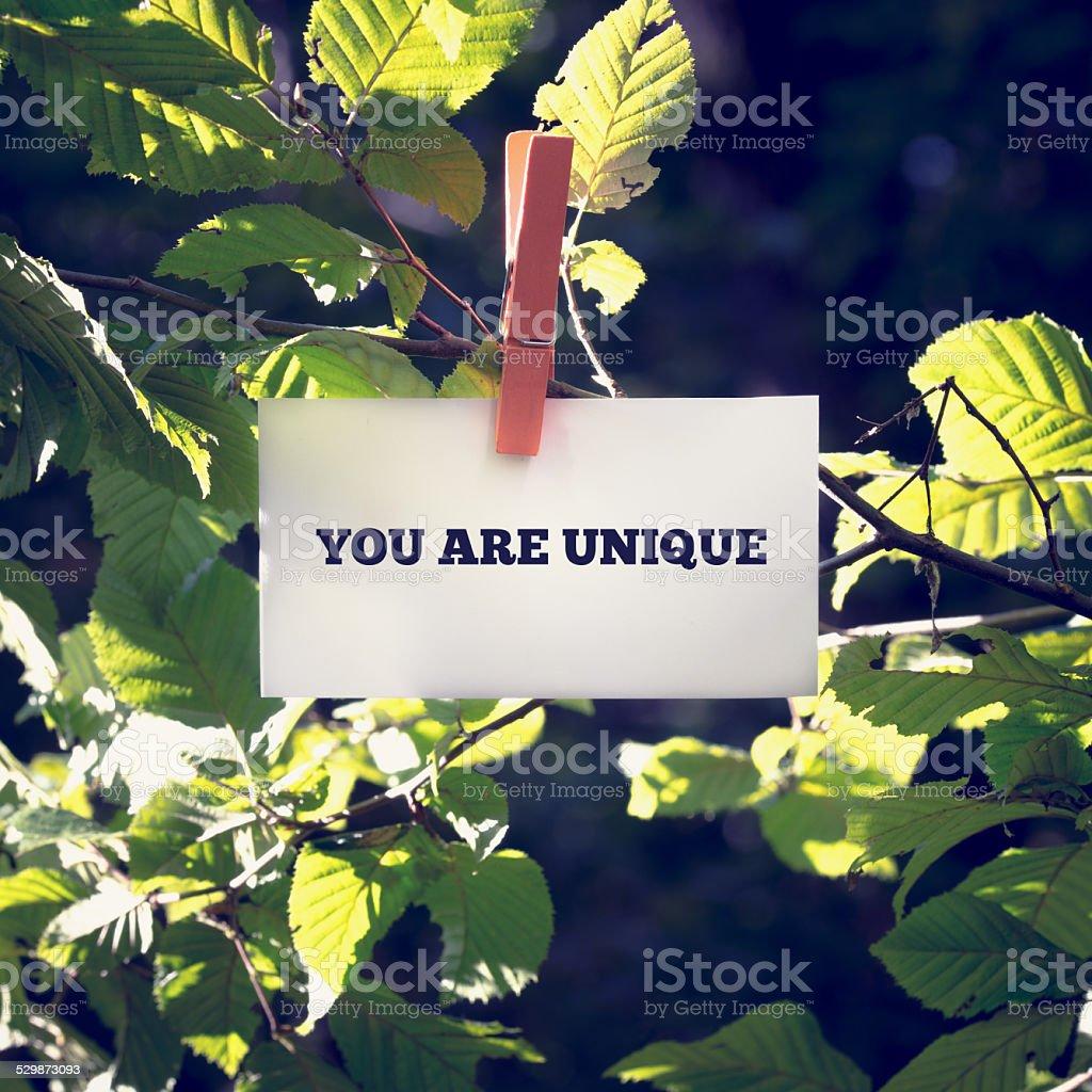 You are unique stock photo