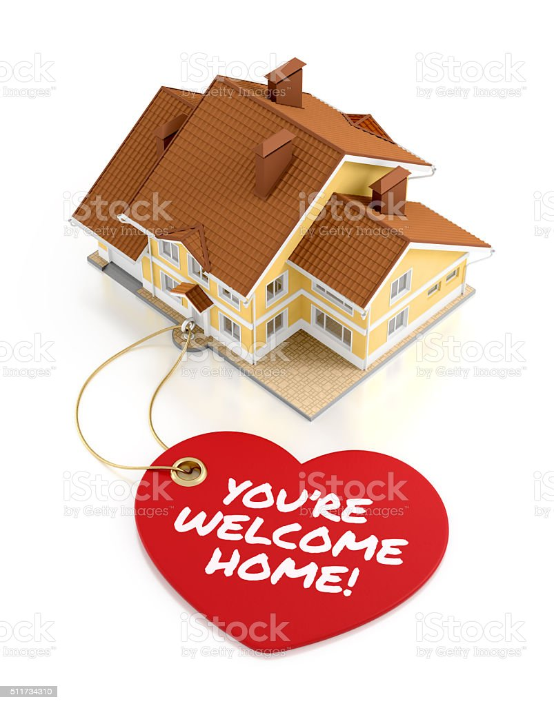 You Are Welcome Home! stock photo