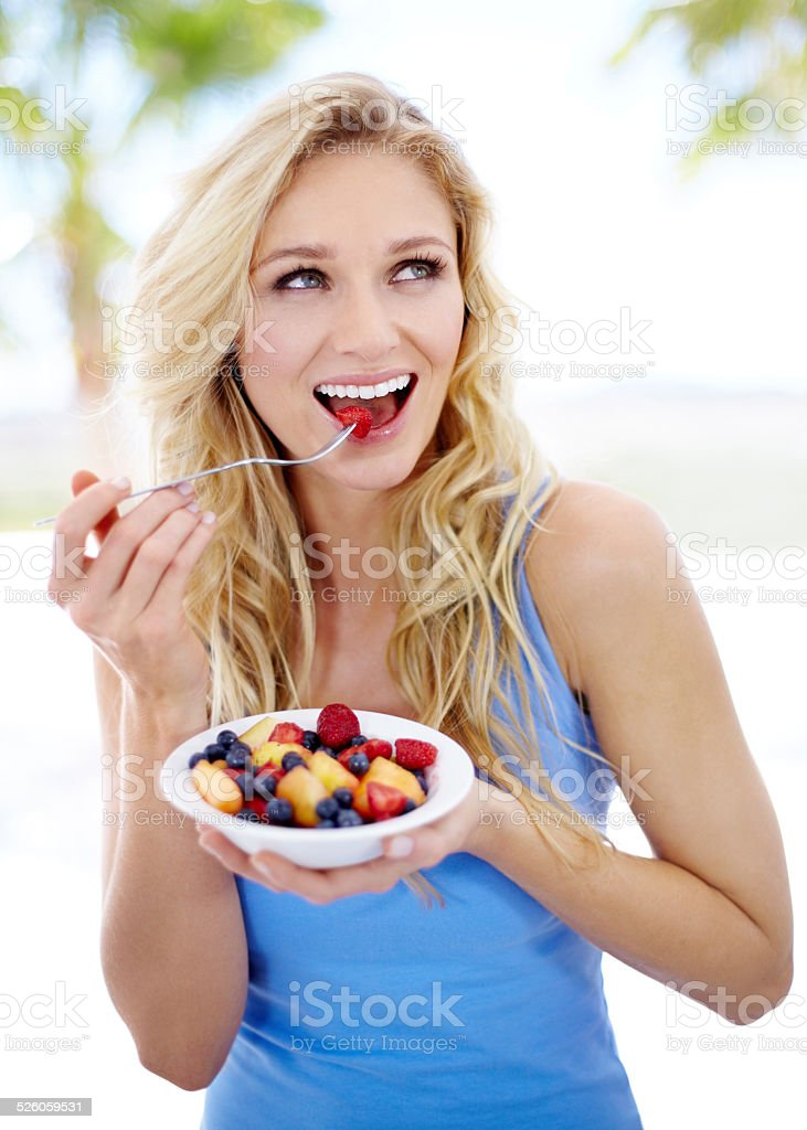 You are what you eat stock photo