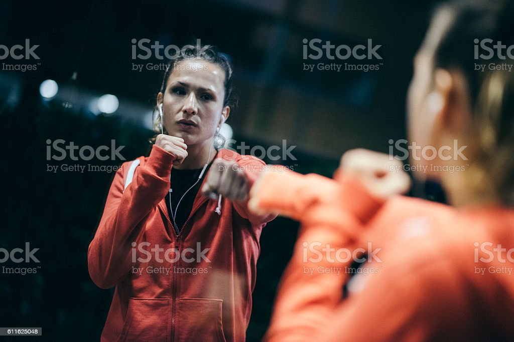 You are your biggest enemy! stock photo