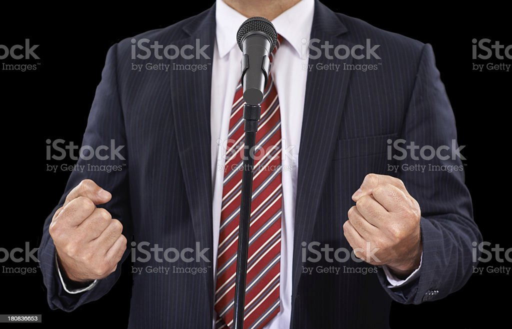 You can feel his passion royalty-free stock photo