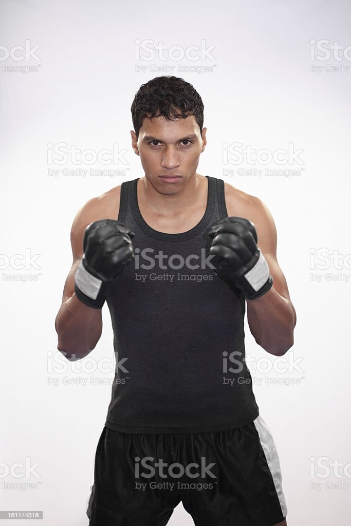 You can see the fight in his eyes royalty-free stock photo