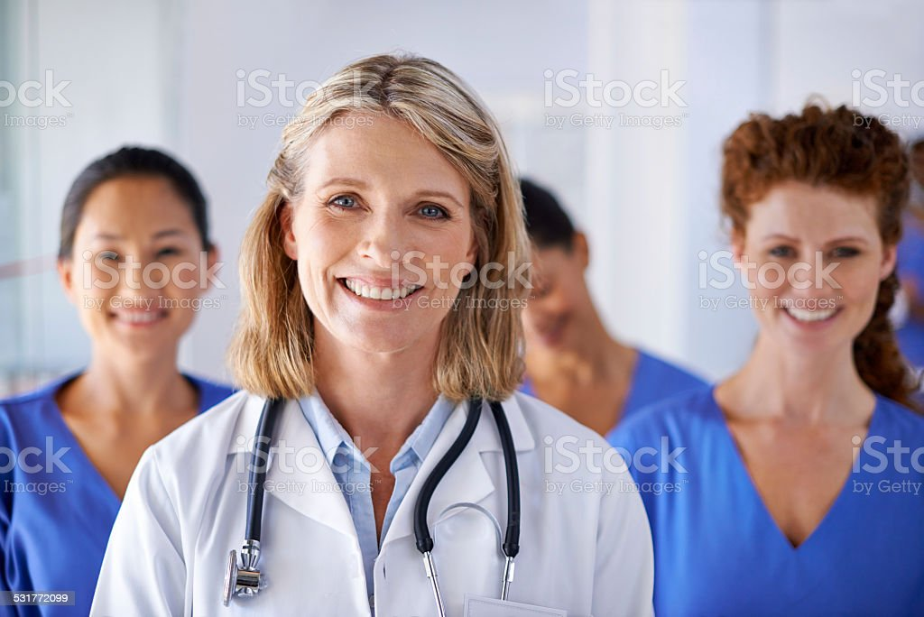 You can trust them with your healthcare needs stock photo