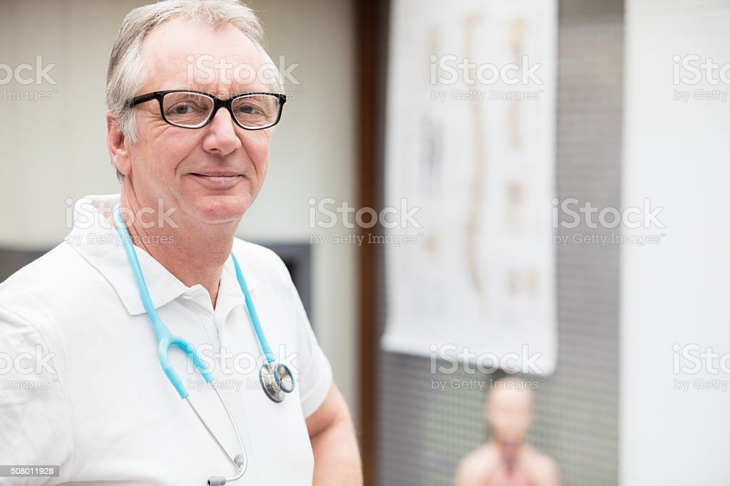 You can trust this doctor stock photo