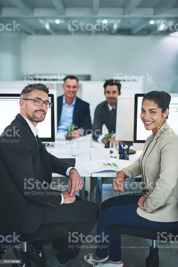 You can trust us to get the job done stock photo