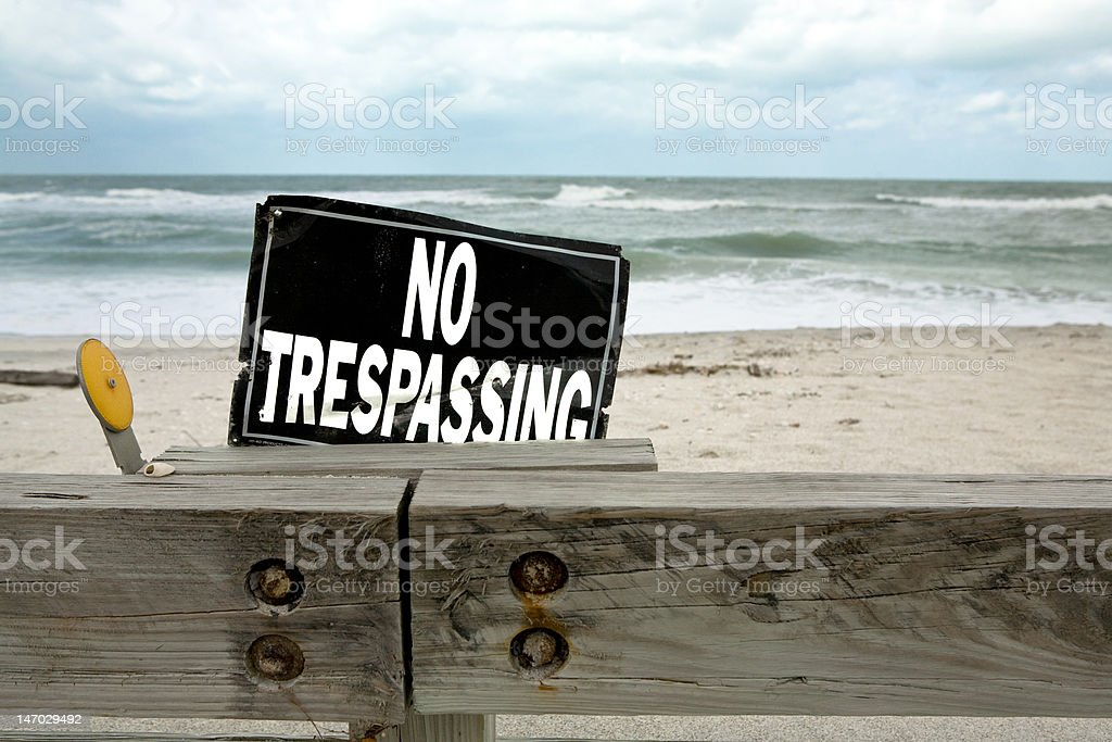 You cannot go on the beach stock photo
